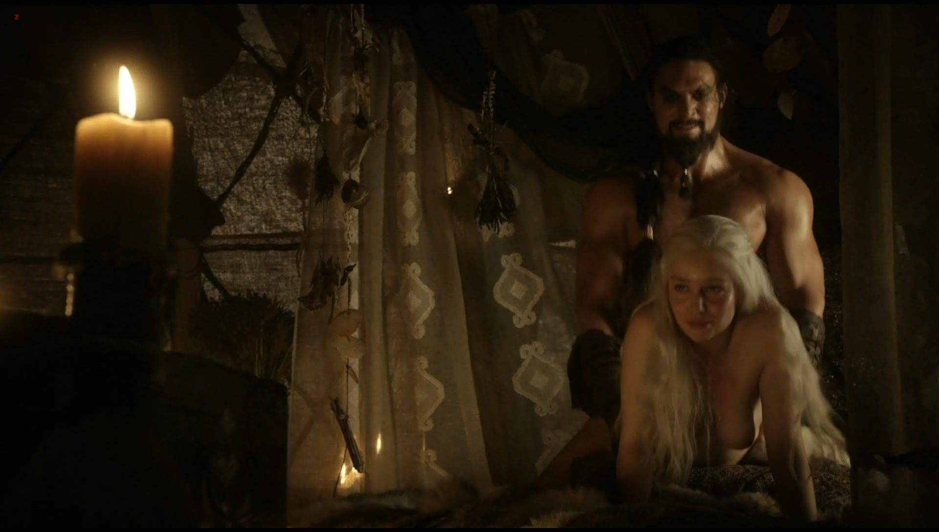 Emilia Clarke nude topless and hot sex doggy style from Game of Thrones s01e02 hdtv1080p