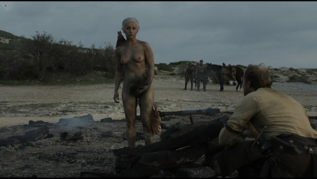 Emilia Clarke nude topless very hot in Game of Thrones s01e10 hdtv1080p