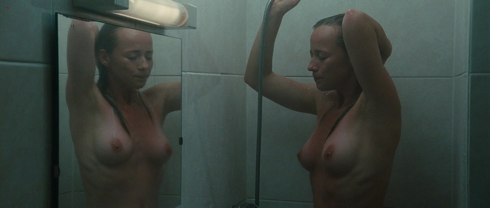 Karine Vanasse nude topless in the shower and bath in – Switch (2011) hd1080p