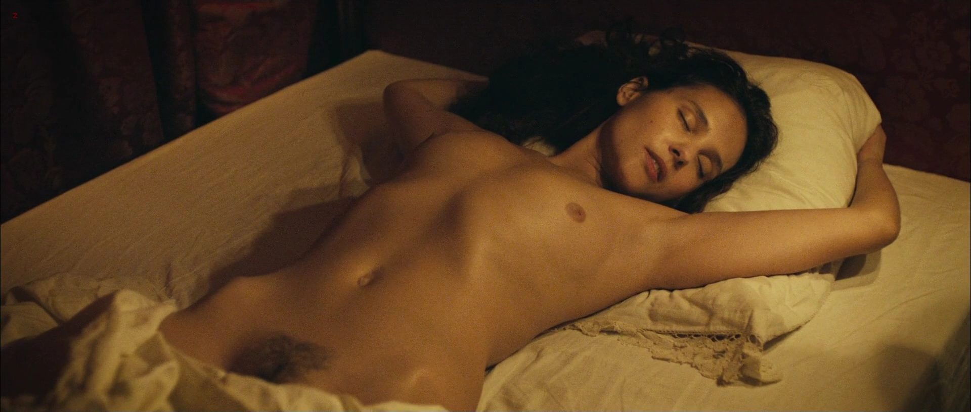 "Virginie Ledoyen all nude topless and bush in ""Les adieux à la reine"" (2012)"