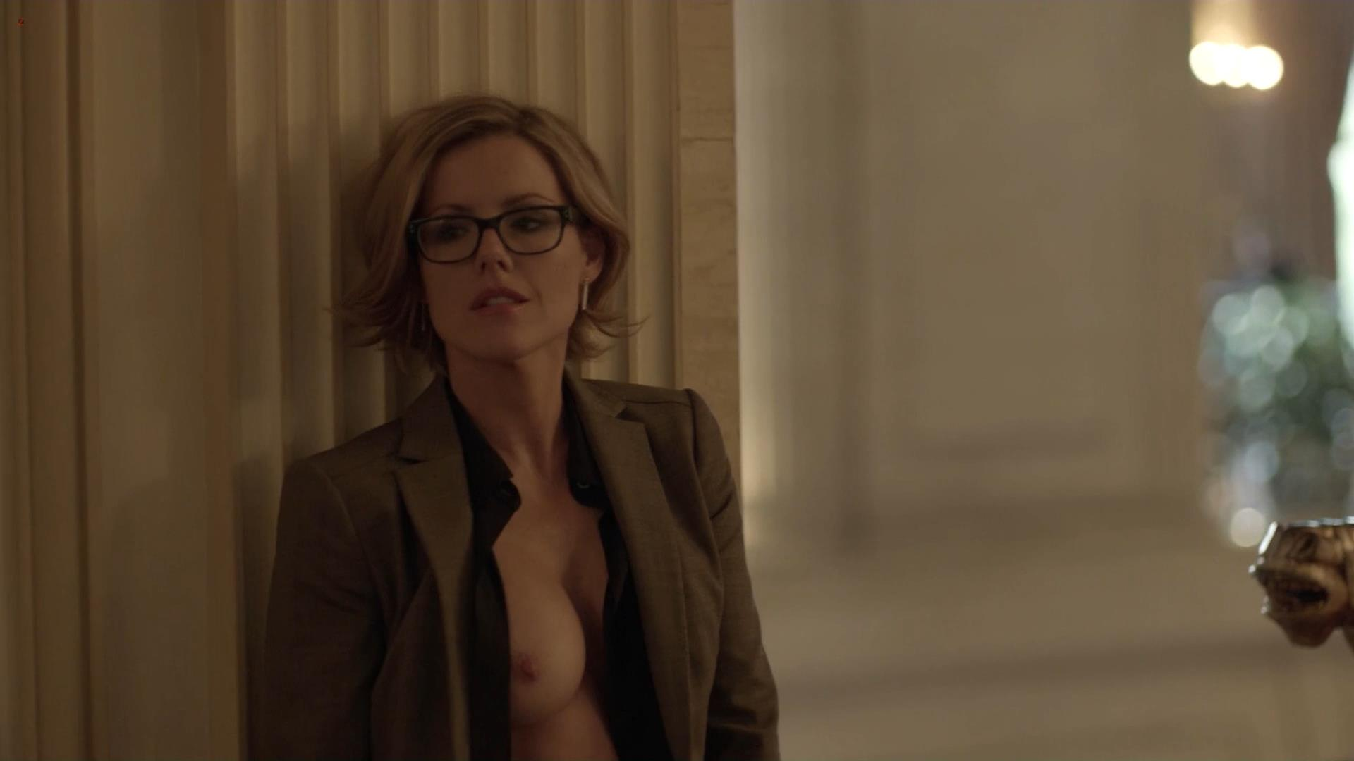 Kathleen Robertson nude topless and quickie sex from Boss s1e2 hd1080p1
