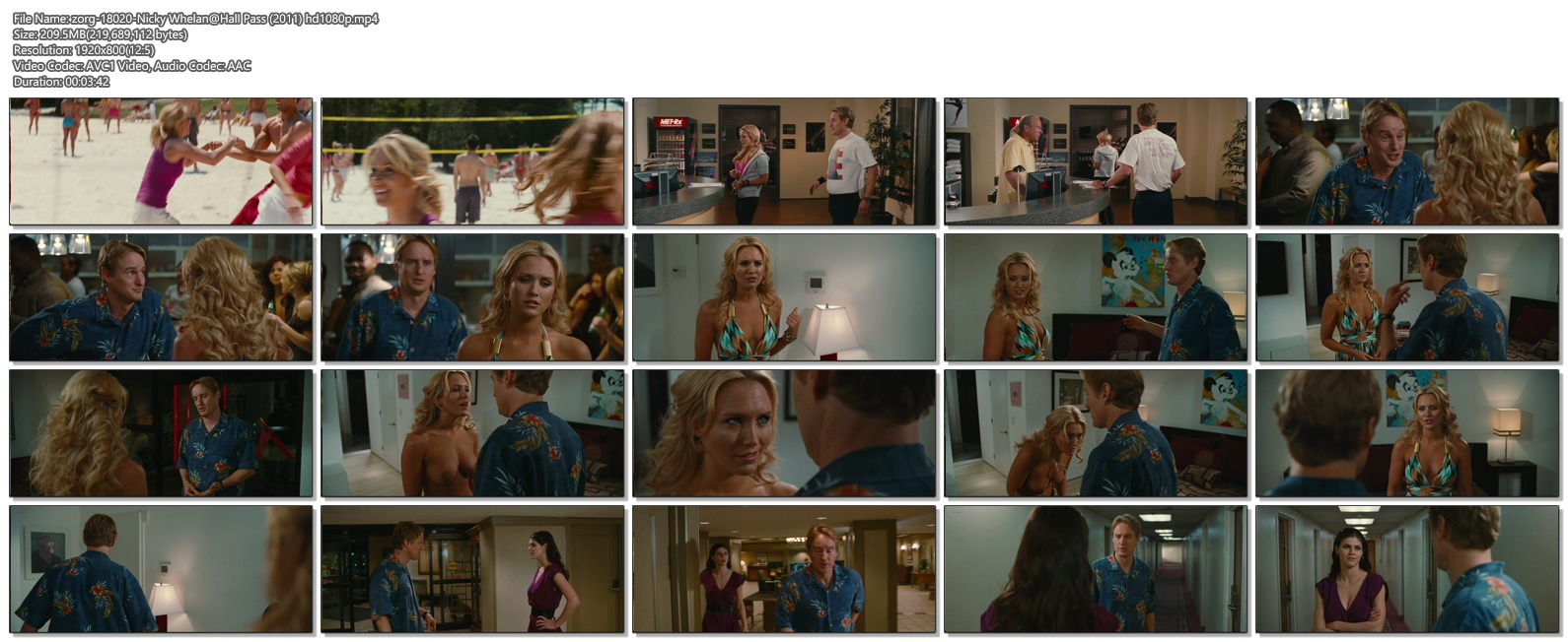 Nicky Whelan Topless in Hall Pass -