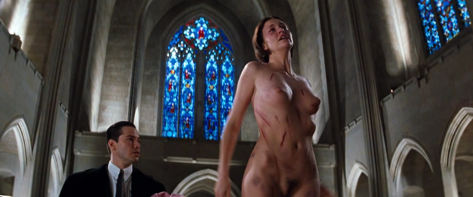 Charlize Theron nude full frontal and Connie Nielsen nude and sex - The Devils Advocate (1997) hd1080p 2