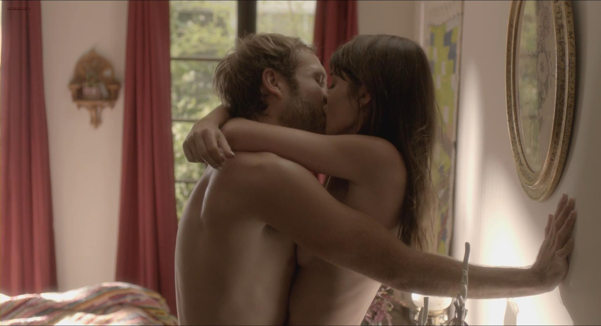 Lizzy Caplan nude but mostly covered in steamy sex scene from - Save the Date (2012) hd1080p
