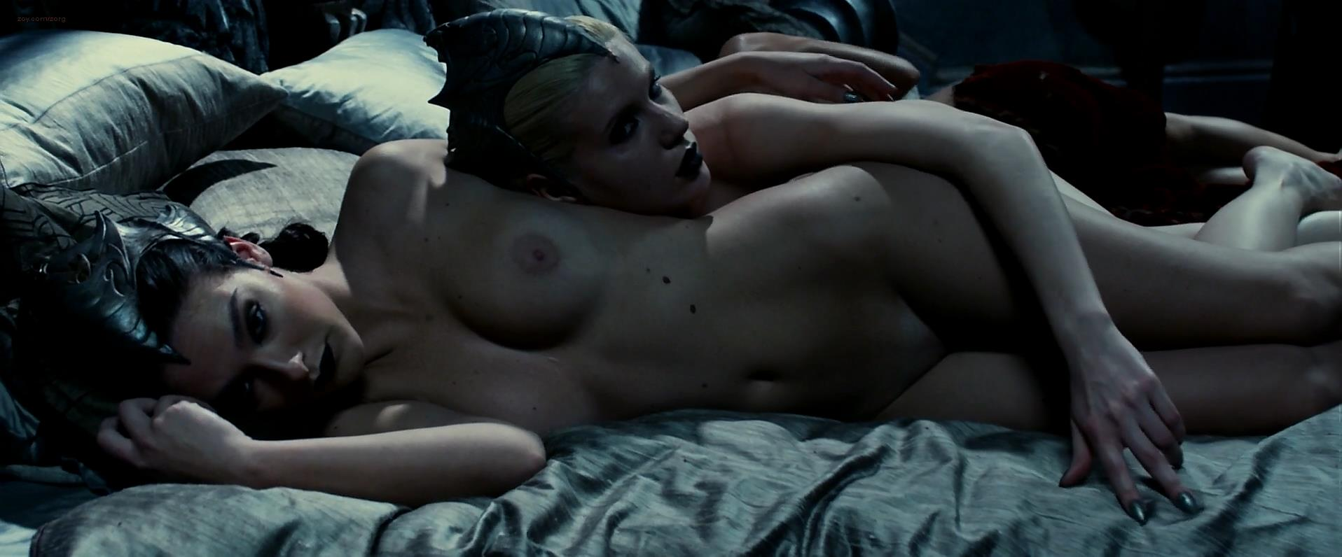 Katee Sackhoff nude brief topless and Charlie Marie Dupont nude topless - Riddick (2013) hd1080p