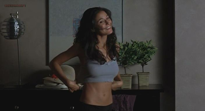 Emmanuelle Chriqui hot side boob and see through - Tortured (2008)