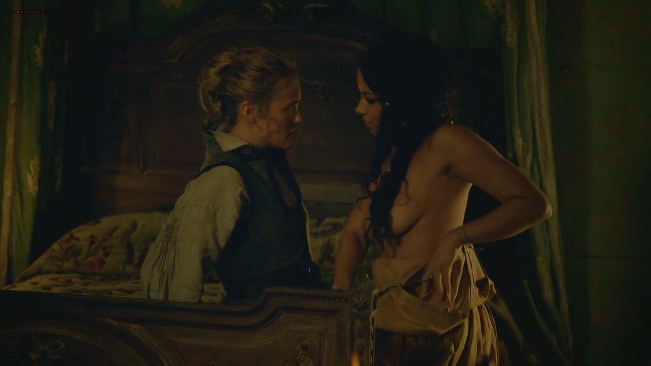 Jessica Parker Kennedy nude topless and lesbian – Black Sails (2014) hd720p
