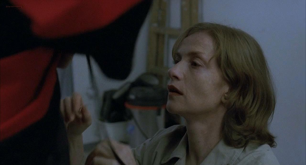Isabelle Huppert implied oral sex and brief nude topless – La pianiste (2001) hd720p