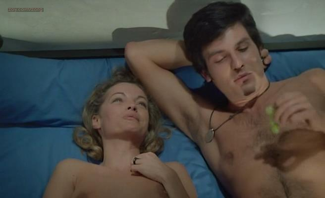 Romy Schneider nude butt and topless in - Les Innocents aux Mains Sales (1975)