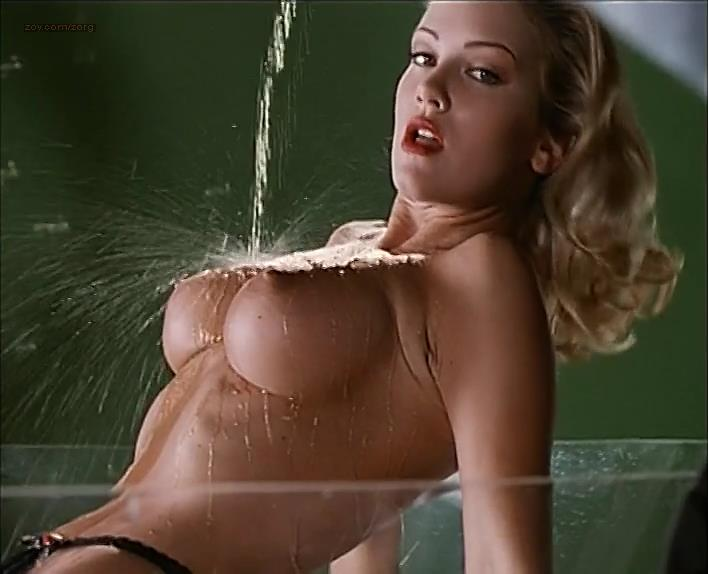 Barbara Anne Moore nude topless and wet- Temptress (1994)