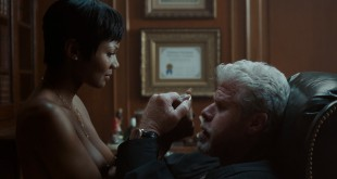 Emayatzy Corinealdi nude sex in the chair with Ron Perlman - Hand of God (2004) s1e1 1080p (1)