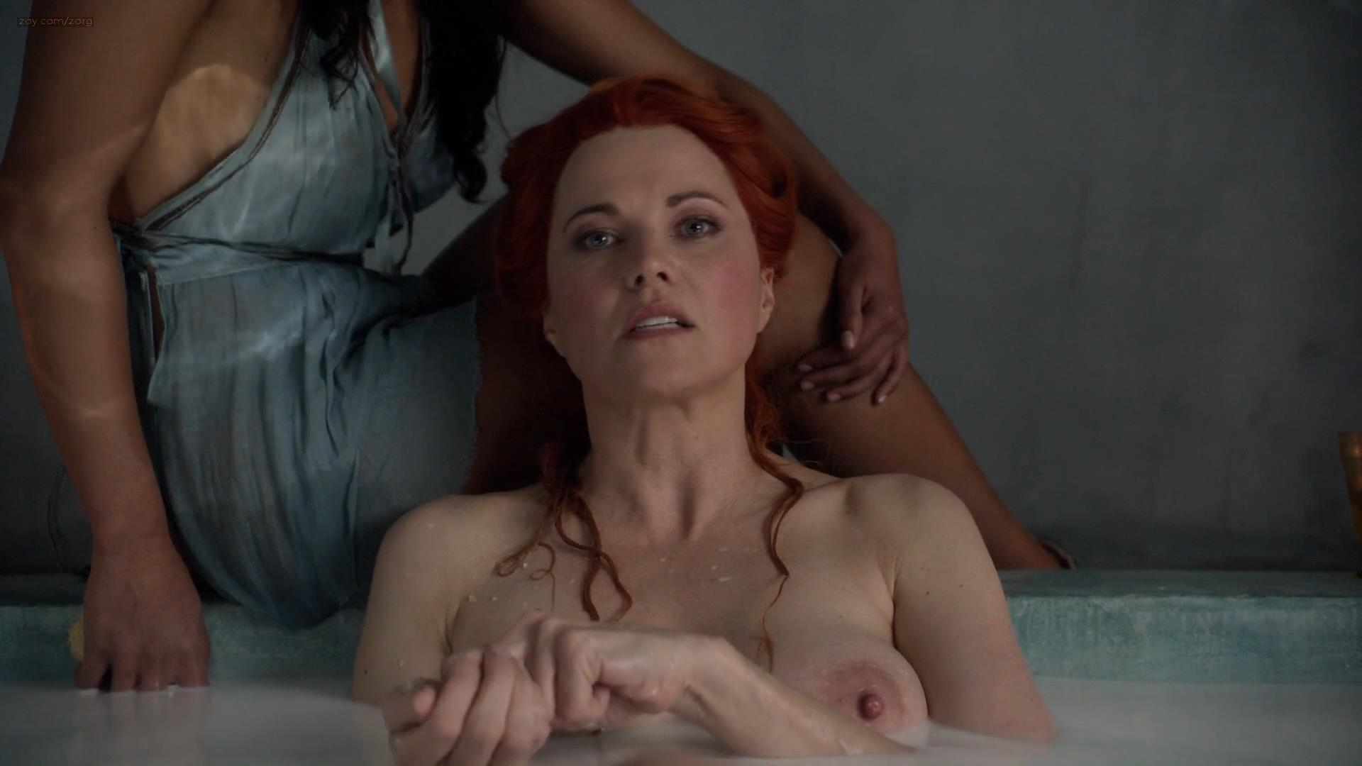 Lucy Lawless nude topless and sex - Spartacus (2010) s1 hd1080p (1)