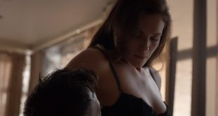 Amanda Righetti nude but covered and some sex – Colony s01e07 (2016) HD 1080p (5)