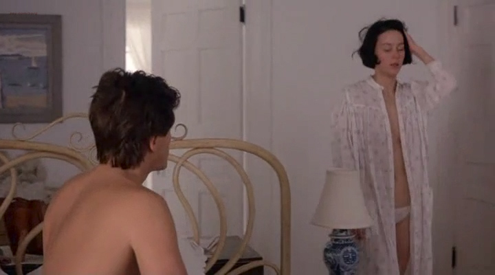 Kim Cattrall nude topless and Meg Tilly hot sex - Masquerade (1988) (10)