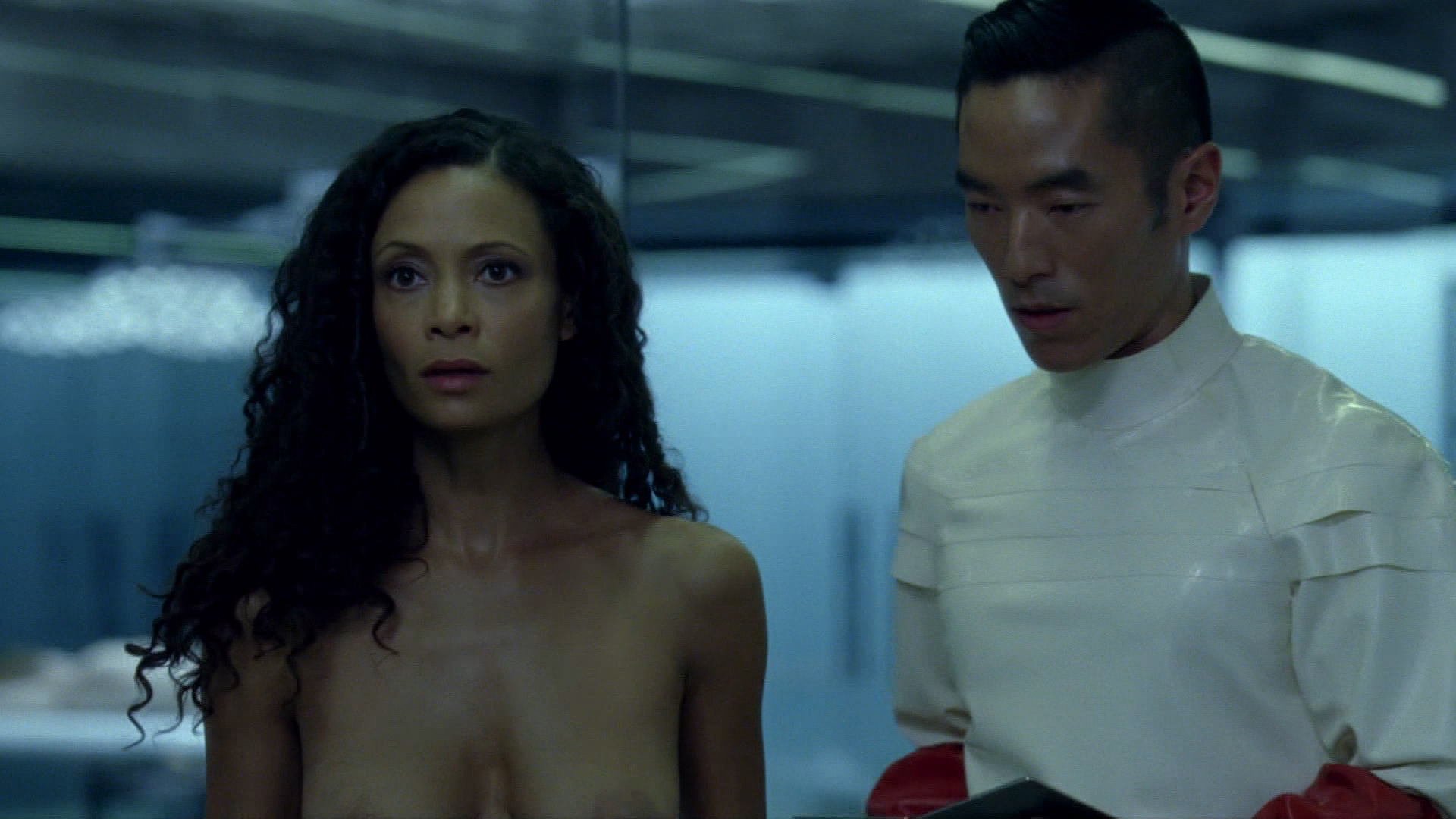 Angela sarafyan nude boobs in a good old fashioned orgy scan