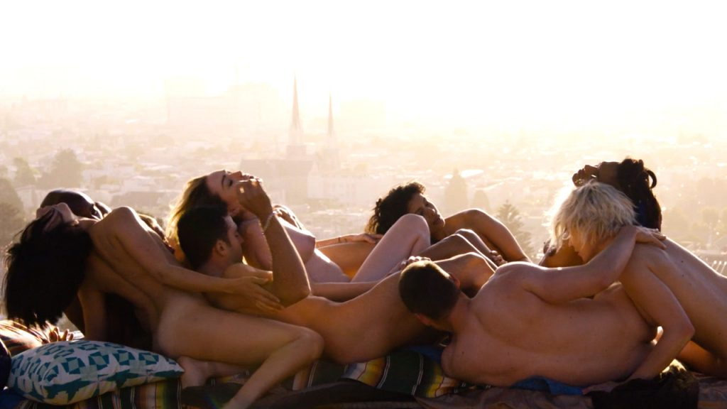 Tuppence Middleton nude sex Freema Agyeman, Doona Bae all nude group sex too - Sense8 (2016) Christmas Special HD 720p (5)