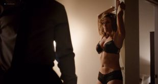 Vanessa Vander Pluym hot and tied up in lingerie - Shades of Blue (2017) s2e1 HD 720p (1)
