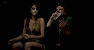 Eva Longoria hot nip slip - Holy Motors (FR-2012) HD 720p BluRay (2)