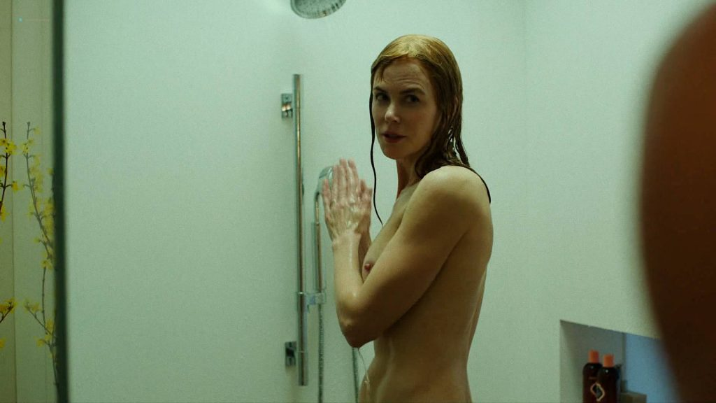 Nicole Kidman nude side boob and butt in the shower - Big Little Lies (2017) s1e7 HD 1080p Web (1)