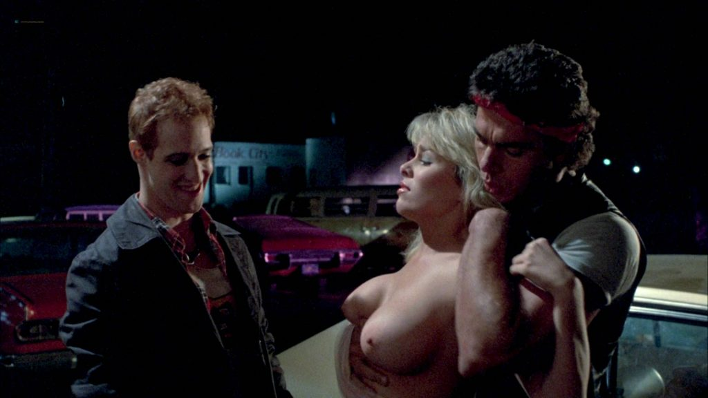 Linda Blair nude Linnea Quigley nude bush Suzee Slater and Rebecca Perle nude too - Savage Streets (1984) HD 1080p BluRay (14)