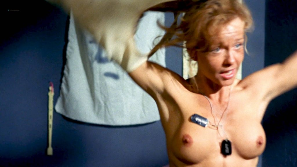 Linnea Quigley nude topless and sex in the shower - Creepozoids (1987) HD 1080p BluRay (9)