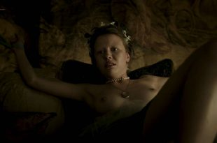 Mia Goth nude topless and tied up - A Cure for Wellness (2016) HD 1080p (4)