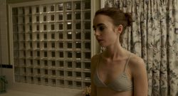 Lily Collins nude side boob - To The Bone (2017) HD 1080p Web (8)