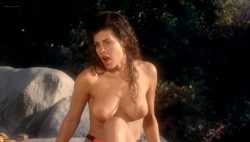 Teri Weigel nude topless Vickie Benson, Betsy Russell and other's hot and sexy - Cheerleader Camp (1988) (10)