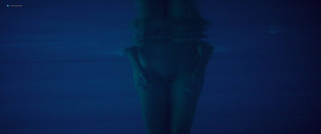 Toni Collette nude bush and boobs while skinny dipping - Madame (2017) HD 1080p WEB (7)