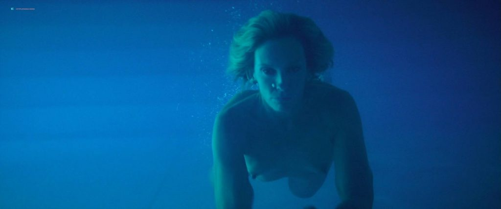 Toni Collette nude bush and boobs while skinny dipping - Madame (2017) HD 1080p WEB (4)