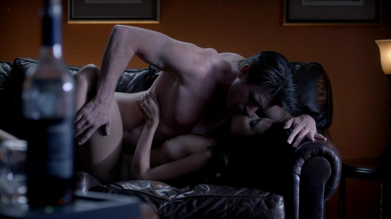 Romantic couple sex scene