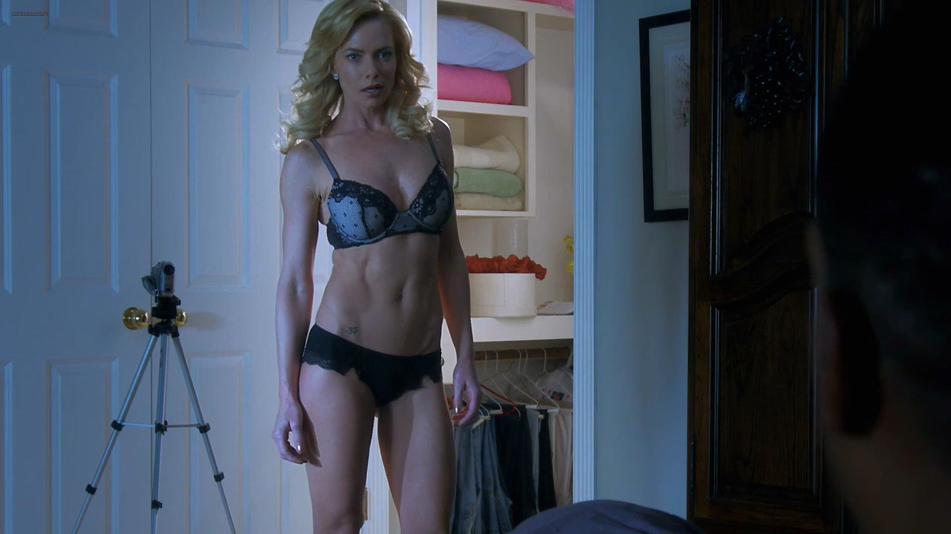 Jaime Pressly hot and sexy in lingerie – A Hunted House 2 (2014) hd1080p