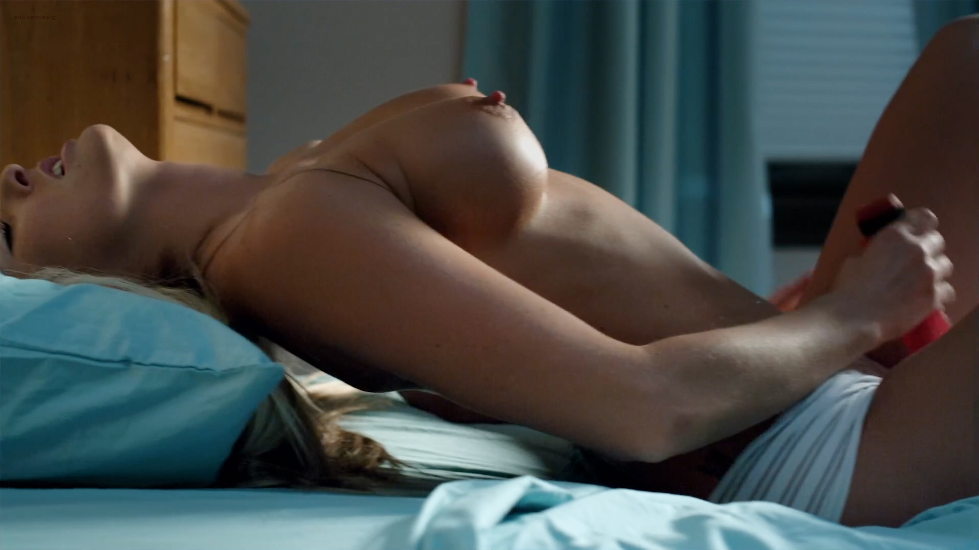 Older women nude lying flat